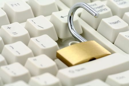 unlocking the enter key, concept of computer safety Stock Photo - 679364