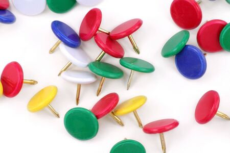 colorful Thumbtack with white background