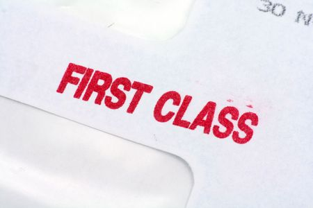 first class mail, business concept photo
