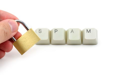 letter keys close up, concept of computer spam  protection Stock Photo - 687835