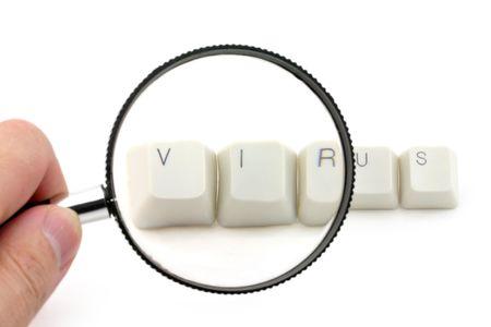 bug key: letter keys close up, concept of computer virus scan