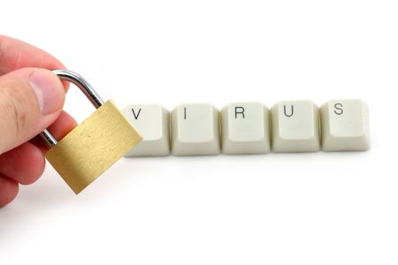 letter keys close up, concept of computer virus Stock Photo - 687824
