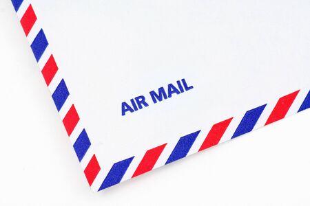 airmail envelope, close up