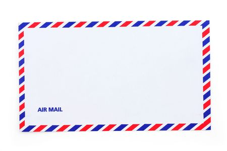 airmail: airmail envelope, close up