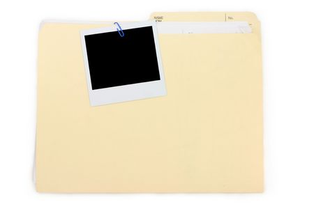 a photo and file folder, business concept