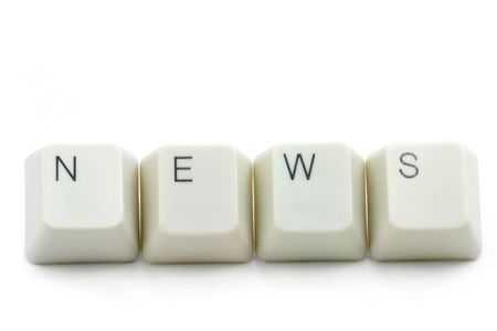 letter keys close up, concept of online news media Stock Photo - 709233
