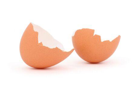 brown eggshell close up shot Banco de Imagens