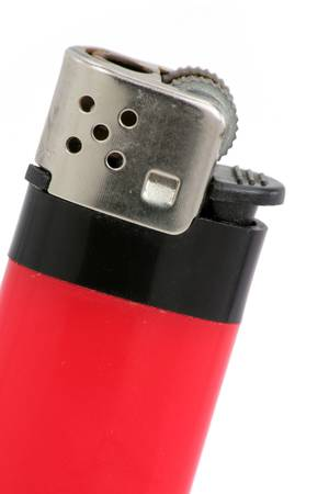 cigarette lighter: Encendedor con fondo blanco