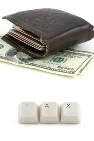 computere keys, concept of tax photo