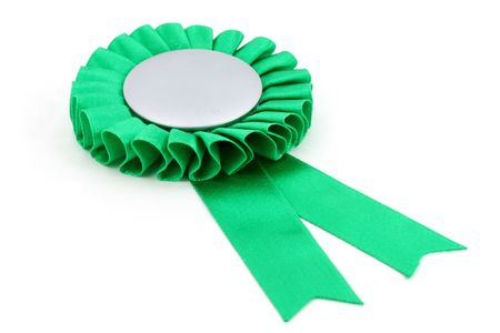 green award ribbons badge with white background photo