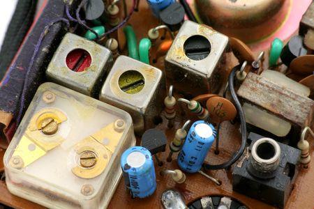 transistor radio set close up shot
