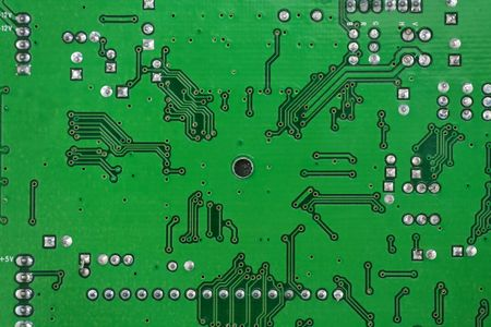 green circuit board for background