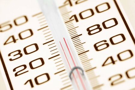 thermometer close up, weather concept