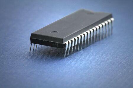 pin board: computer chip close up shot