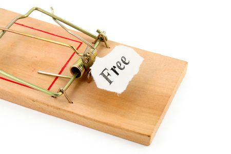free sign and Mousetrap, concept of business trap