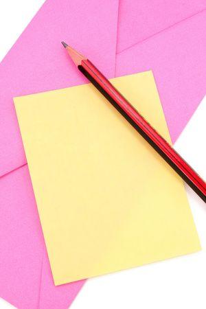 envelop: notepaper and envelop, communication concept Stock Photo
