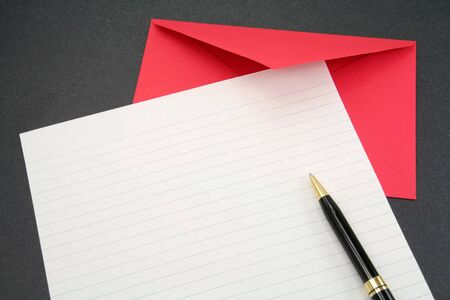 letter paper and envelope, communication concept photo