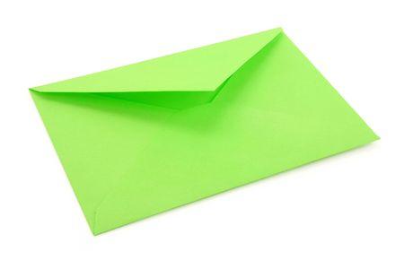 green envelope, concept of communication Stock Photo