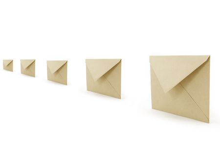 envelopes, concept of communication Stock Photo