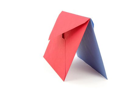red and blue envelopes, concept of communication