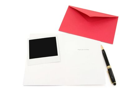 greeting card and red envelope, communication concept Stock Photo - 790406