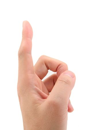 gesticulation: Index Finger pointing up with white background