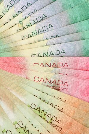 canadian cash: canadian dollars background, business concept