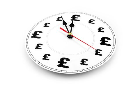 clock and pound Sign, concept of time is money