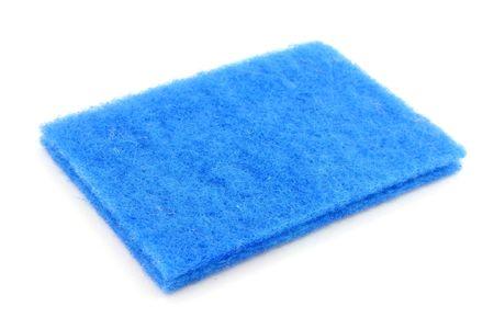 scrubber: blue scrubber with white background
