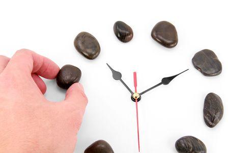 stone clockface, concept of time Stock Photo - 813462