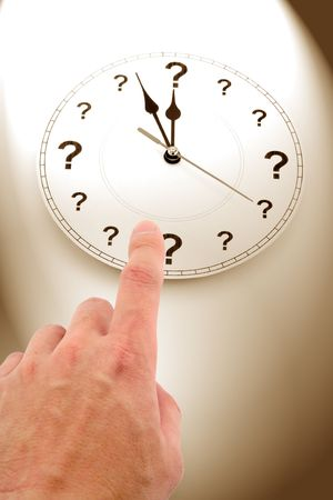 question mark clock, concept of time Stock Photo - 828478