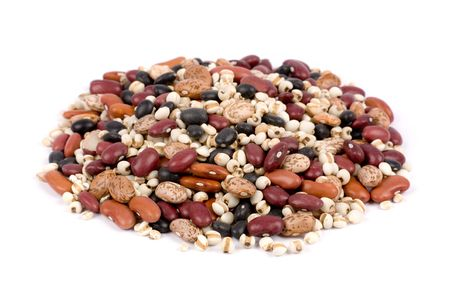 pinto beans: Mixed dried beans close up for background Stock Photo