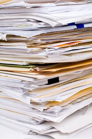 unorganized: Paper Stack close up shot