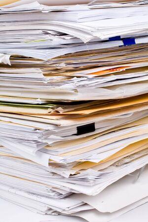 pile papier: Pile de papier de pr�s shot Banque d'images