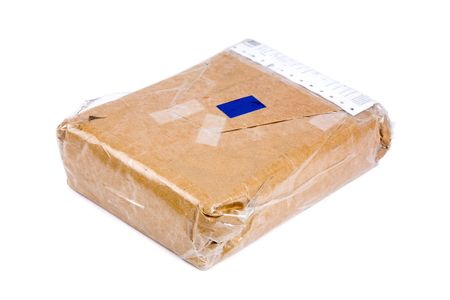 addressed: pacchetto di carta marrone vicino colpo