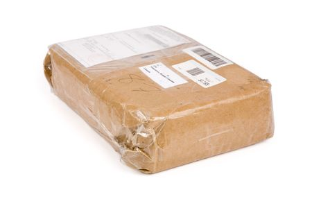 addressee: a brown paper package close up shot
