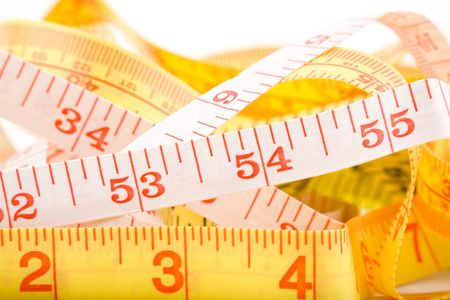 Tape Measure with white background Imagens