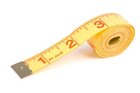 Yellow Tape Measure white background