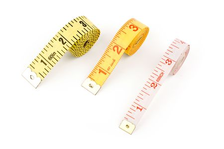 Tape Measures with white background