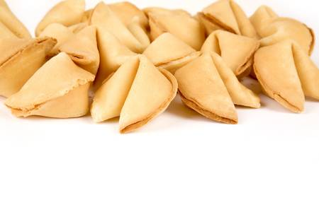 Fortune Cookies close up for background