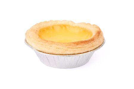 egg tart: Egg Tart with white background