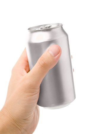 blank soda can with white background Stock Photo - 957926