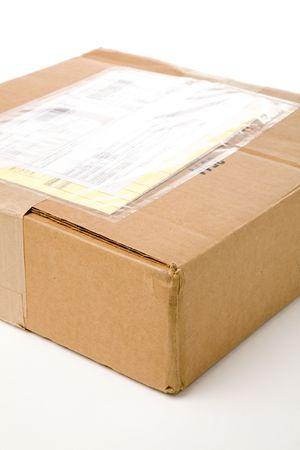 addressed: una fine del pacchetto della posta in su ha sparato