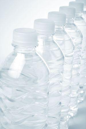 bottle water close up shot Banco de Imagens - 989359