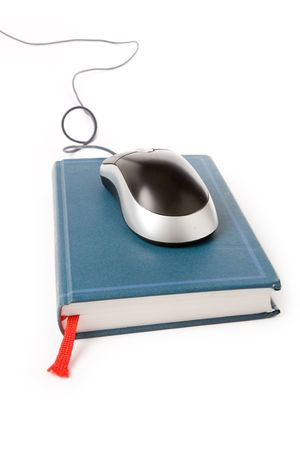 computer mouse and book, concept of online education Stock Photo - 1000789