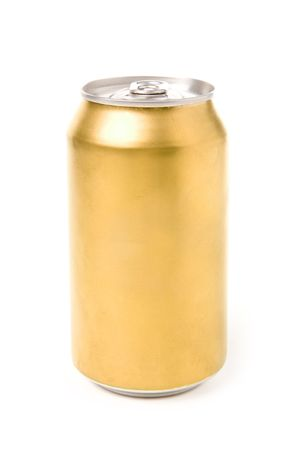 lata de refresco: soda en blanco puede con fondo blanco