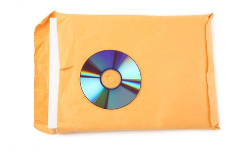 CD and document, concept of digital file Stock Photo