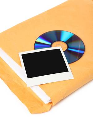 photo, CD and document, concept of digital file Stock Photo - 1065900