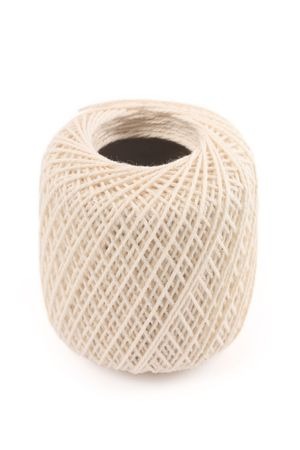 a ball of twine with white background