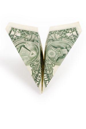 papierflugzeug: Dollar Papier Flugzeug, Business-Konzept